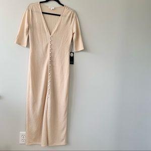 NWT Privacy Please Button-Down Knit Midi Dress